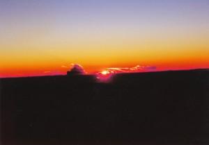 マウナケア山頂夕陽